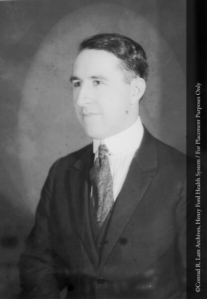 Dr. Irvin P. McQuarrie, Department of Medicine, Division of Pediatrics, c.1925. From the Conrad R. Lam Collection, Henry Ford Health System. ID=02-033