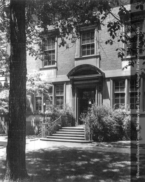The Henry Ford Hospital School of Nursing and Hygiene Education Building designed by architect Albert Kahn in 1925. From the Collections of The Henry Ford: Acc. 833, Box 18, P833.829628