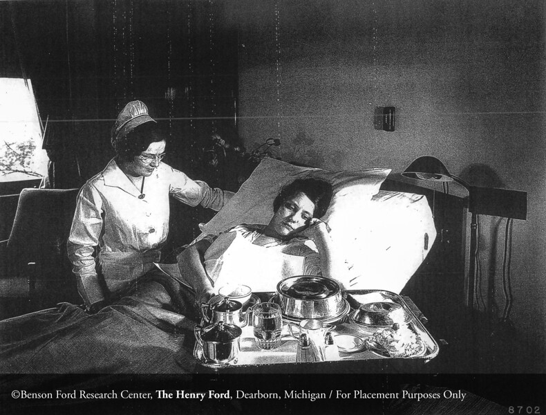 Henry Ford Hospital nurse with patient, 1931. From the Collections of The Henry Ford: Acc. 833, Box 16, P833.8702