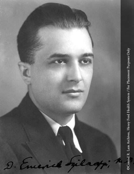 Dr. D. Emerick Szilagyi. From the Conrad R. Lam Collection, Henry Ford Health System. ID=03-034