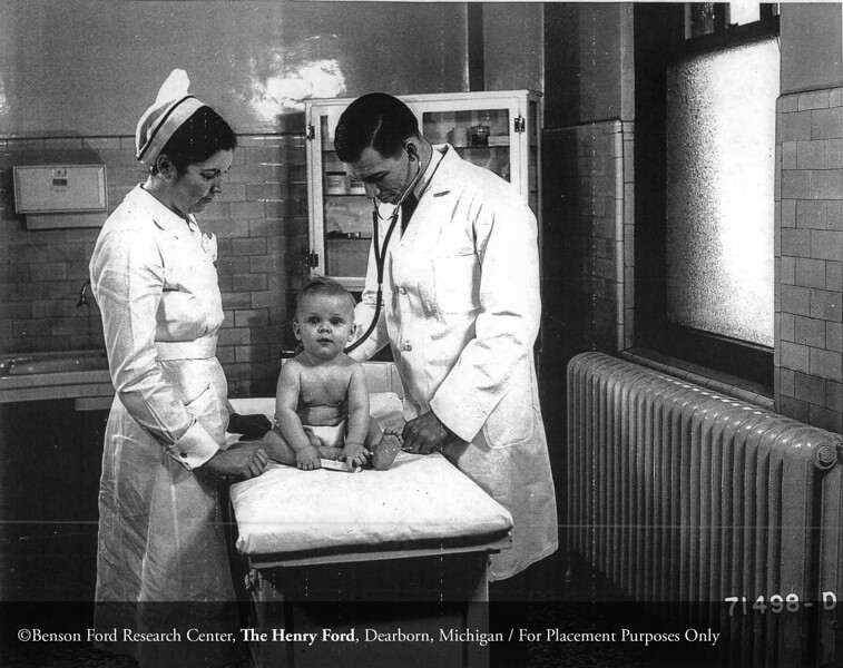 The Pediatric physical examination in 1939. From the Collections of The Henry Ford. THF117517 (core)