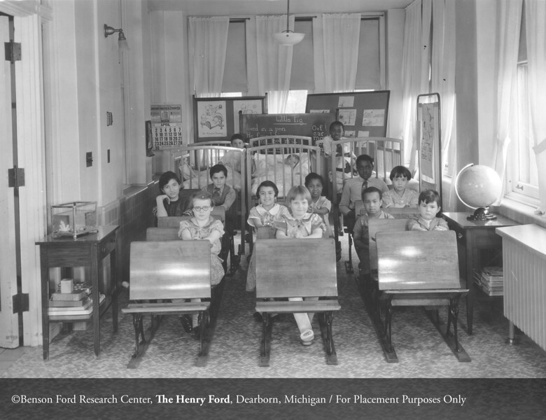 The Department of Pediatrics convalescent school in 1934. From the Collections of The Henry Ford: Acc. 168, Box 1, P.O. 19344