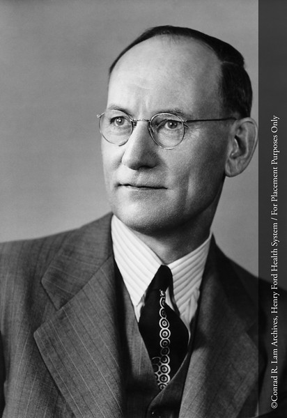 Dr. Oliver Gaebler, Department Head of the Edsel B. Ford Institute for Medical Research, c.1945. From the Conrad R. Lam Collection, Henry Ford Health System. ID=03-031
