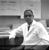 Dr.  Ziegler in his office, October 20, 1959. From the Conrad R. Lam Collection, Henry Ford Health System. ID=04-052