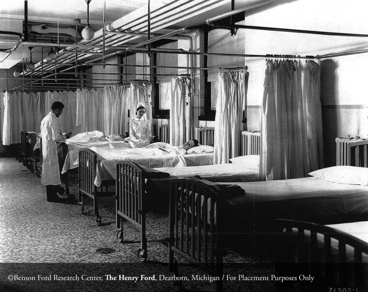The Henry Ford Hospital recovery room, c.1945. From the Collections of The Henry Ford: Acc. 833, Box 17, P833.71302.1