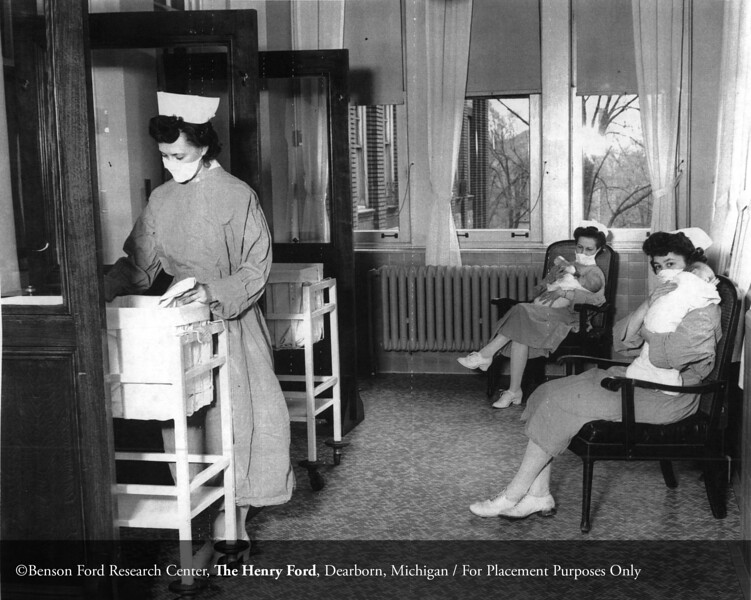 The Henry Ford Hospital nursery, March 29, 1945. From the Collections of The Henry Ford. THF117530 (core)