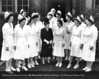 Clara Bryant Ford with a group of Henry Ford Hospital nurses in 1942. From the Collections of The Henry Ford. THF117576 (core)