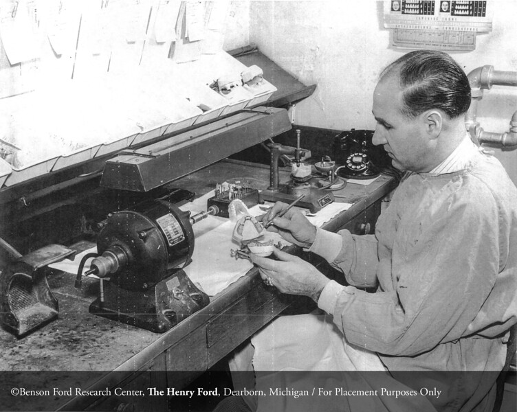 The Henry Ford Hospital dental laboratory, c.1940. From the Collections of The Henry Ford: Acc. 833, Box 18, P833.83482-36
