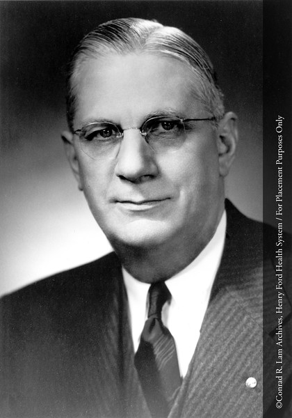 Dr. Frank Hartman, Head of the Department of Pathology, c.1945. From the Conrad R. Lam Collection, Henry Ford Health System. ID=04-040