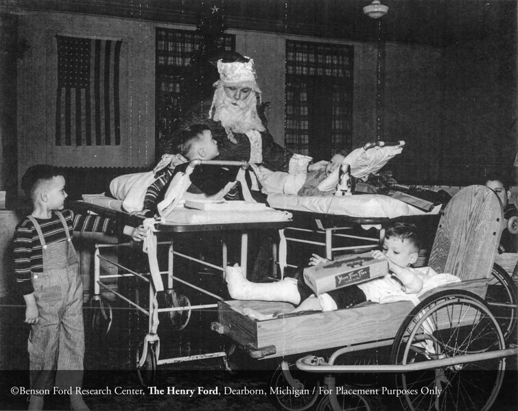 The Department of Pediatrics Christmas party in 1945. From the Collections of The Henry Ford: Acc. 833, Box 18, P833.82346.1