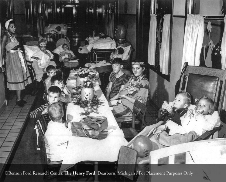 The Department of Pediatrics Halloween party in 1946. From the Collections of The Henry Ford: Acc. 833, Box 18, P833.83460-2