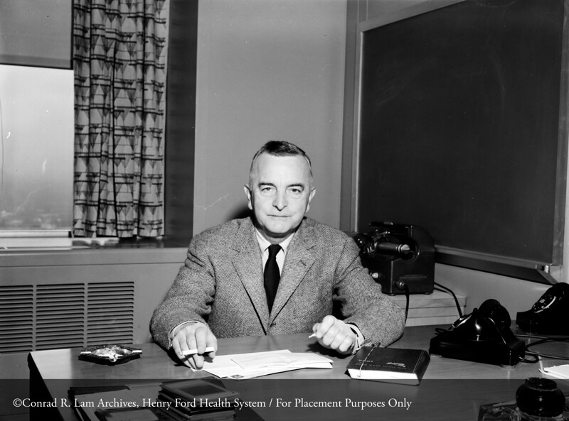 Dr. Joseph Johnston, Pediatrics, December 31, 1954. From the Conrad R. Lam Collection, Henry Ford Health System. ID=04-053