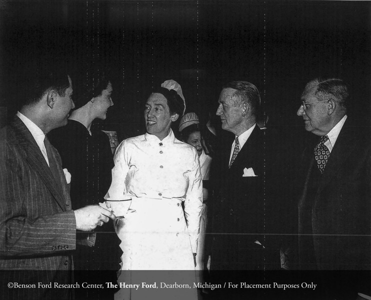 Elizabeth Moran, R.N. with Drs. Frank J. Sladen and Roy D. McClure in 1947. From the Collections of The Henry Ford. THF117557 (core)