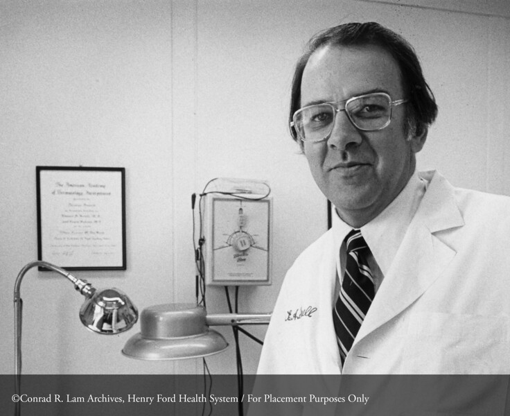 Dr. Edward Krull, c.1975. From the Conrad R. Lam Collection, Henry Ford Health System. ID=05-028