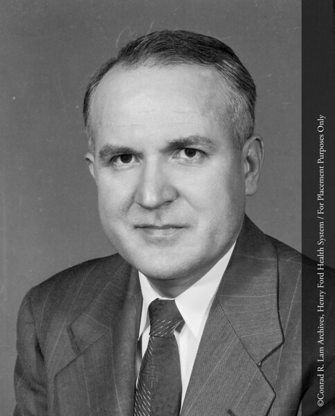 John W. Rebuck, M.D., c.1960.  From the Conrad R. Lam Collection, Henry Ford Health System. ID=05-042