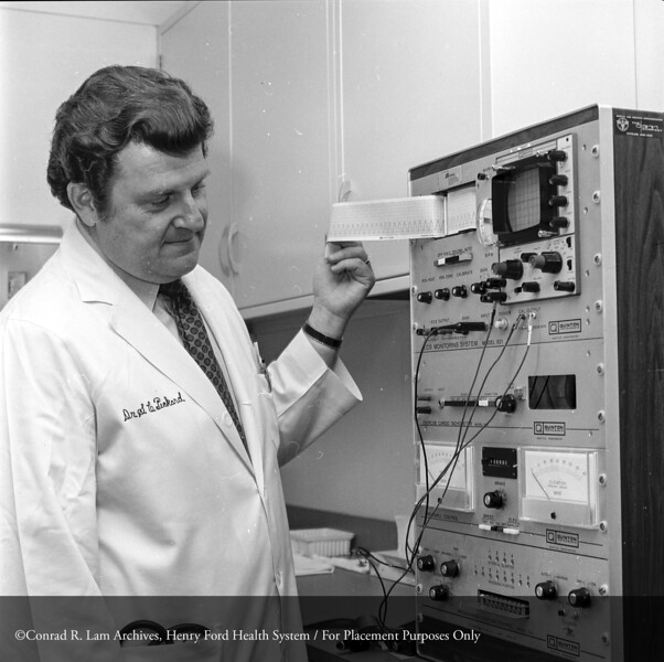 Dr. Sol Pickard, c.1976. From the Conrad R. Lam Collection, Henry Ford Health System. ID=05-017