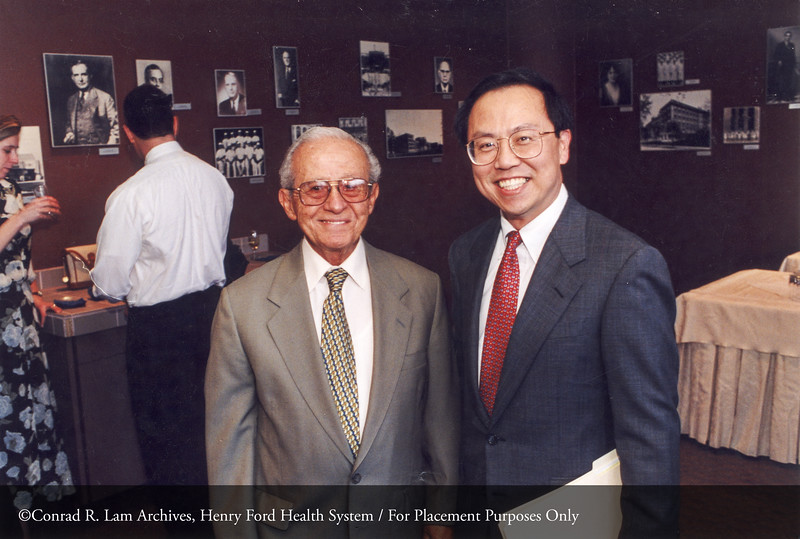 Drs. George Mikhail and Henry Lim, 1998. From the Conrad R. Lam Collection, Henry Ford Health System. ID=05-030