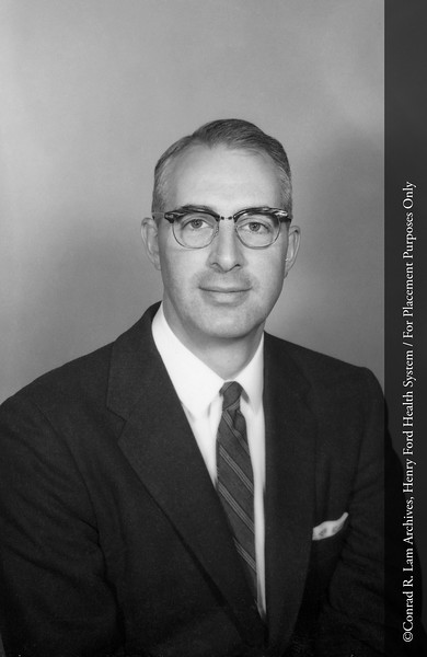 Dr. William Eyler of the Department of Radiology, 1953. From the Conrad R. Lam Collection, Henry Ford Health System. ID=05-005