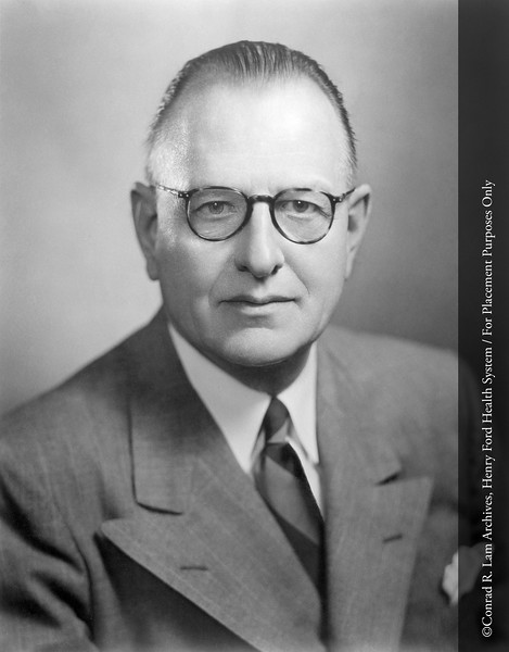 Dr. Robin Buerki, c.1955. From the Conrad R. Lam Collection, Henry Ford Health System. ID=05-003