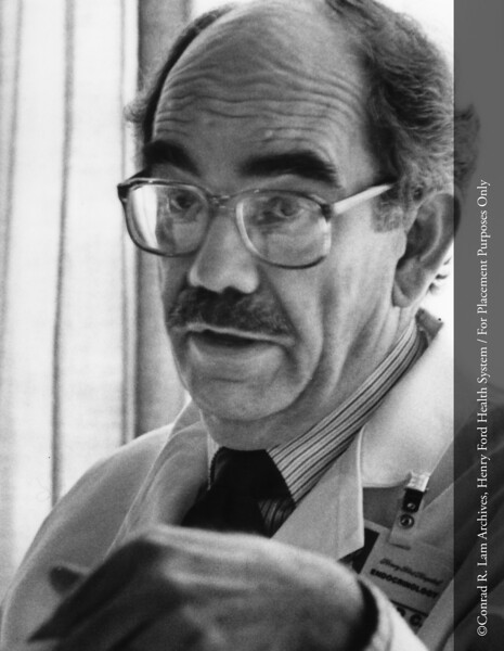 Dr. Raymond Mellinger, c.1980. From the Conrad R. Lam Collection, Henry Ford Health System. ID=05-029