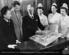 Dr. Frank Sladen showing a model of the proposed new Henry Ford Hospital campus to Eleanor Clay Ford, Henry Ford II, Marjorie Schultz R.N., Elizabeth S. Moran R.N. and Sally Brown R.N. in 1950. From the Collections of The Henry Ford. THF117571 (core)