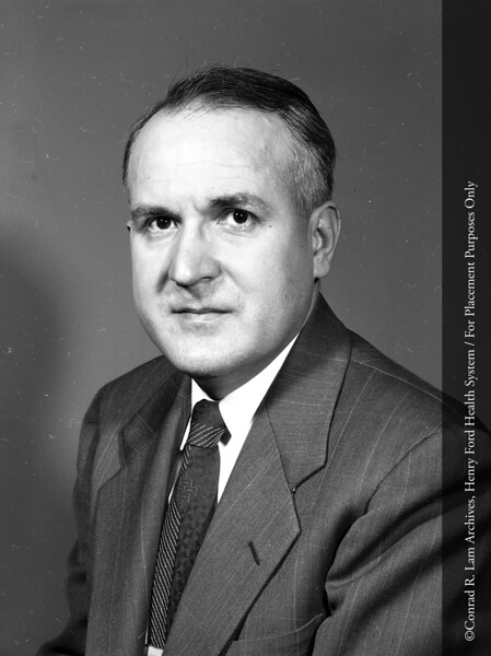 John W. Rebuck, M.D., c.1960.  From the Conrad R. Lam Collection, Henry Ford Health System. ID=05-040