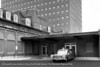 The hospital emergency entrance, 1961. From the Conrad R. Lam Collection, Henry Ford Health System. ID=06-023