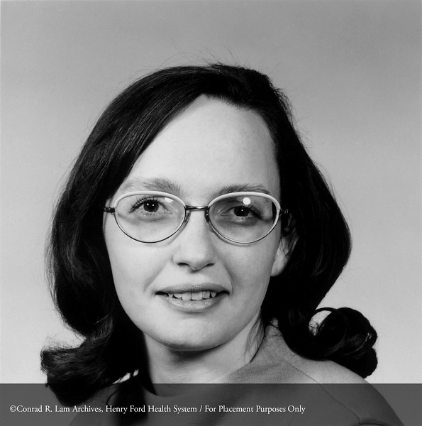 Mary Cantrell, M.D. from the Department of Anesthesiology, c.1977. From the Conrad R. Lam Collection, Henry Ford Health System. ID=06-024
