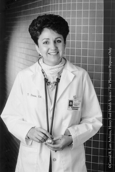 Dorothy Deremo, R.N., 1989. From the Conrad R. Lam Collection, Henry Ford Health System. ID=06-021