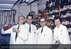 Pharmacists: Robert Reoch, Donald F. Lovelace, Charles P. Morrison & Janice A. O'Reilly, 1965. From the Conrad R. Lam Collection, Henry Ford Health System. ID=06-026