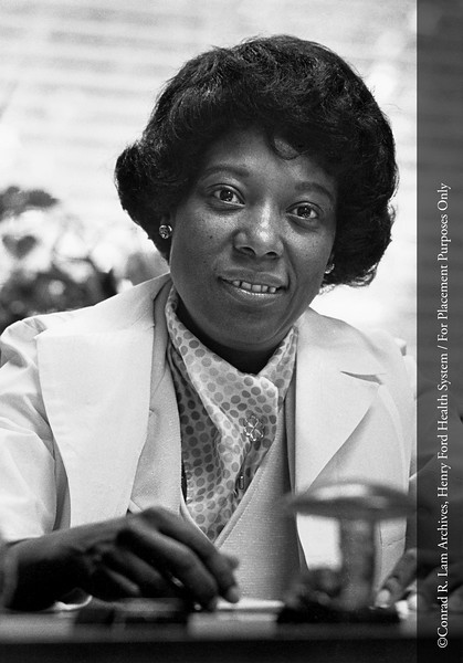 Mary Morris, R.N., 1972. From the Conrad R. Lam Collection, Henry Ford Health System. ID=07-005