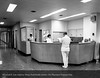 Nurses station, 1968. From the Conrad R. Lam Collection, Henry Ford Health System. ID=07-002