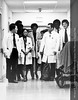 Henry Ford Hospital Doctors on Grand Rounds, c.1980. From the Conrad R. Lam Collection, Henry Ford Health System. ID=07-013