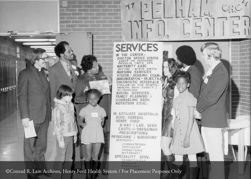 The Henry Ford Hospital Pelham Community Health Station. From the Conrad R. Lam Collection, Henry Ford Health System. ID=07-032