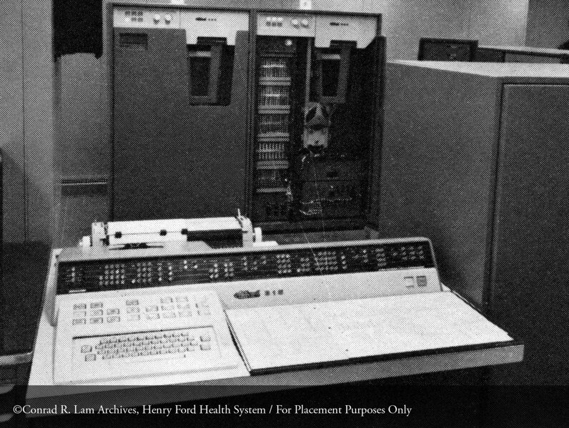 The NRC 315 Computer at HFH, 1962. From the Conrad R. Lam Collection, Henry Ford Health System. ID=07-012