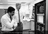 Drs. Paul Stein and Hani Sabbah in the cardiovascular research laboratory. From the Conrad R. Lam Collection, Henry Ford Health System. ID=07-037