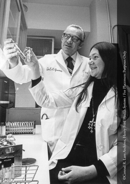 Dr. Quinn with Peggy Somerville. From the Conrad R. Lam Collection, Henry Ford Health System. ID=07-028