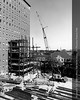 Construction of the new Elevator Tower on the Henry Ford Hospital Clinic Building, 1971. From the Conrad R. Lam Collection, Henry Ford Health System. ID=07-023