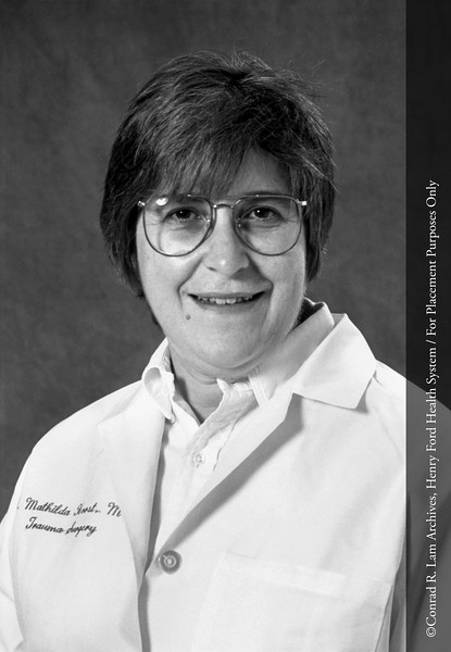 Dr. Mathilda Horst. From the Conrad R. Lam Collection, Henry Ford Health System. ID=07-038