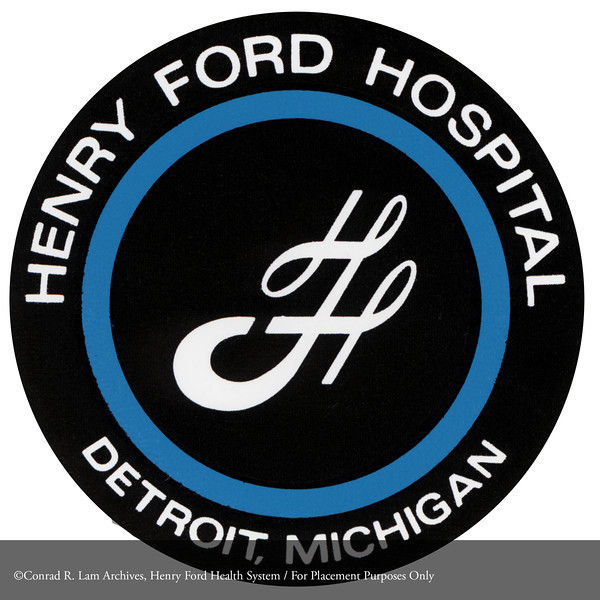Henry Ford Hospital logo, c.1972. From the Conrad R. Lam Collection, Henry Ford Health System. ID=08-042