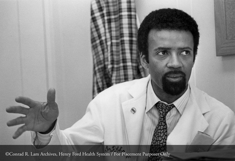 Dr. Robert Chapman, c.1986. From the Conrad R. Lam Collection, Henry Ford Health System. ID=08-049