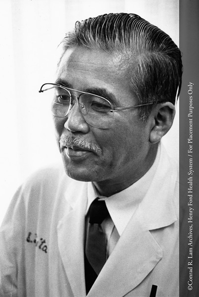 Dr. Shiro Fujita of the Department of Ear, Nose and Throat, c.1984. From the Conrad R. Lam Collection, Henry Ford Health System. ID=08-023