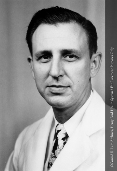 Dr. A. Waite Bohne of the Department of Urology, c.1970. From the Conrad R. Lam Collection, Henry Ford Health System. ID=08-002
