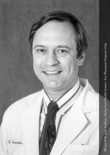 Dr. Louis D. Saravolatz of the Department of Infecious Disease, c.1980. From the Conrad R. Lam Collection, Henry Ford Health System. ID=08-036