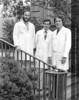 Drs. Michael Eichenhorn, Joaquin Arciniegas, and John Popovich, c.1977. From the Conrad R. Lam Collection, Henry Ford Health System. ID=08-047