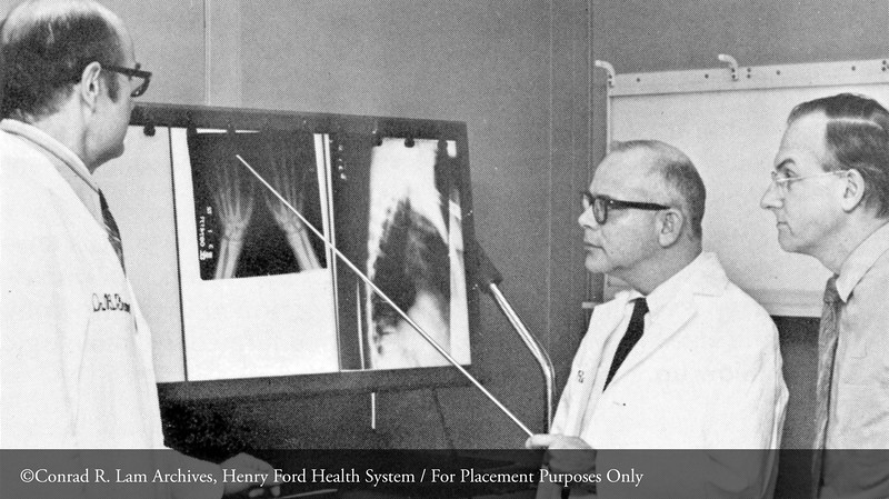Drs. Boy Frame, William A. Reynolds, and A. Michael Parfitt. From the Conrad R. Lam Collection, Henry Ford Health System. ID=08-050
