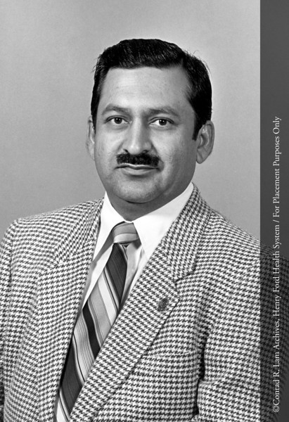 Dr. Ghaus Malik of the Department of Neurosurgery, c.1980. From the Conrad R. Lam Collection, Henry Ford Health System. ID=08-010