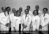HFH Bone & Mineral Division: Drs. Ray Mellinger, Jose Goldman, Michael Parfitt, Celina Hetnal, Michael Kleerekoper, Dhia Yousif, Henry Bone, Dorothy Kakkonen, Fred Whitehouse, and Malachi McKenna, 1989. From the Conrad R. Lam Collection, Henry Ford Health System. ID=09-037