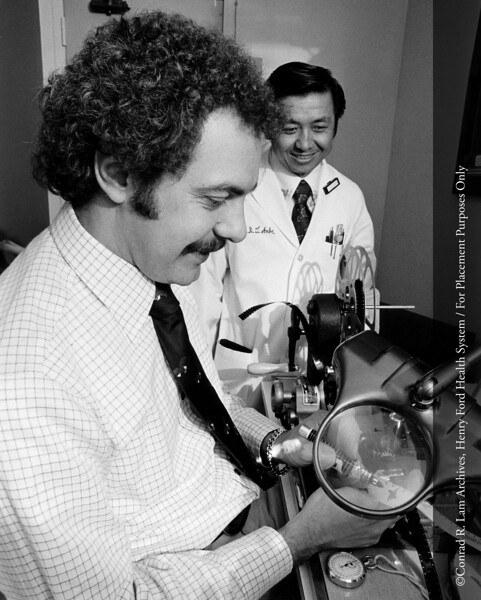 Joseph Madej, HFH videographer, c.1980. From the Conrad R. Lam Collection, Henry Ford Health System. ID=09-036