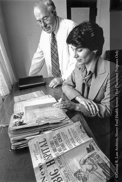 Nardina Mein, Ph.D., and Dr. Conrad Lam, c.1980. From the Conrad R. Lam Collection, Henry Ford Health System. ID=09-045